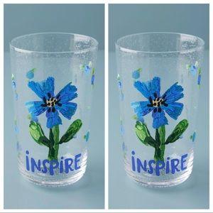 2 Anthropologie Carolyn Gavin Inspire Juice Glass